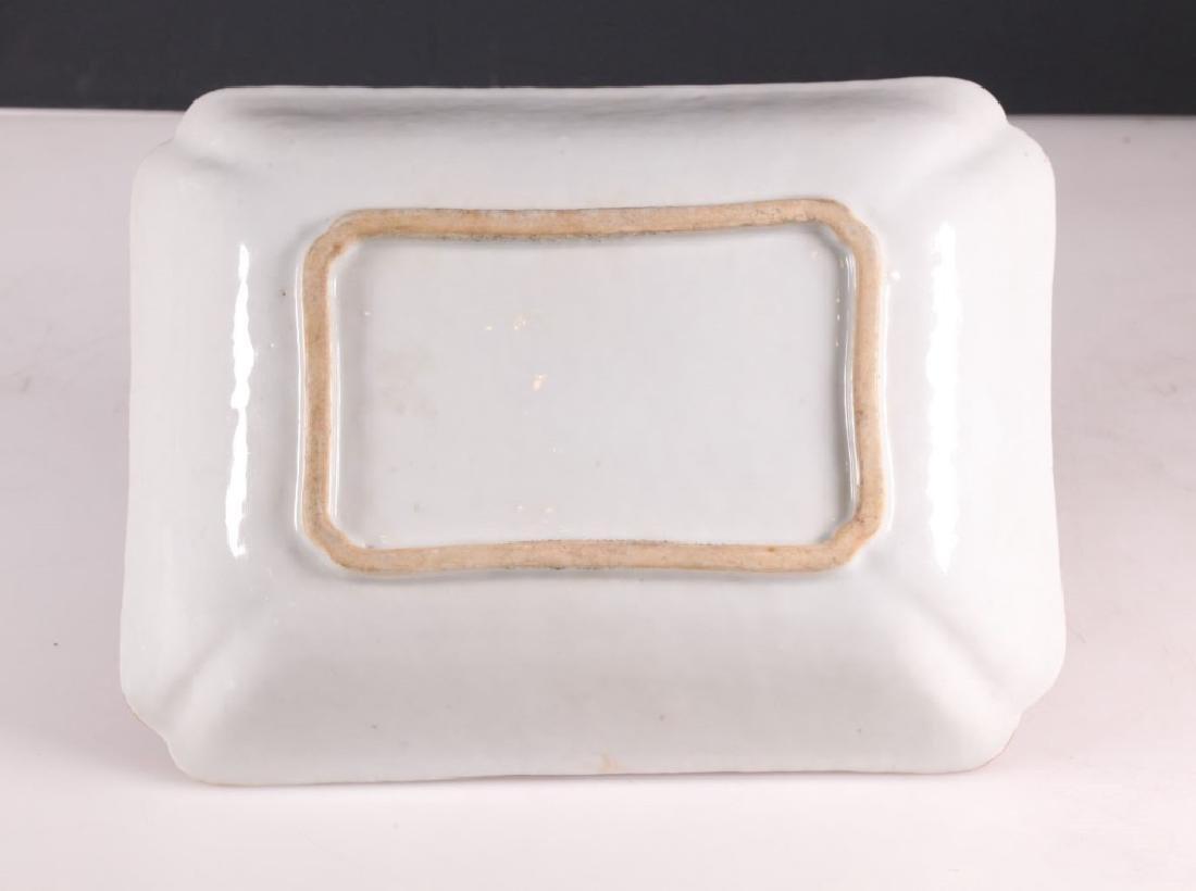19 C Chinese Enameled Rectangular Porcelain Plate - 4