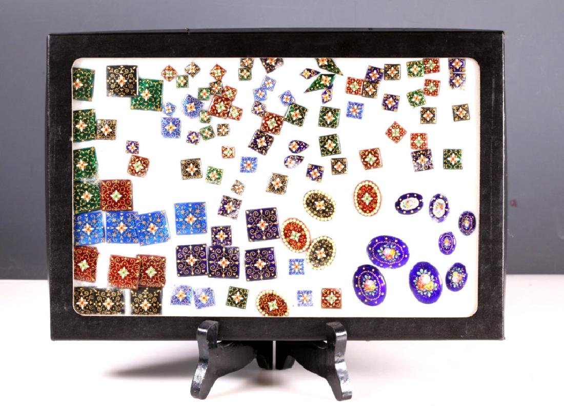 100+ Enameled Square & Oval Plaques