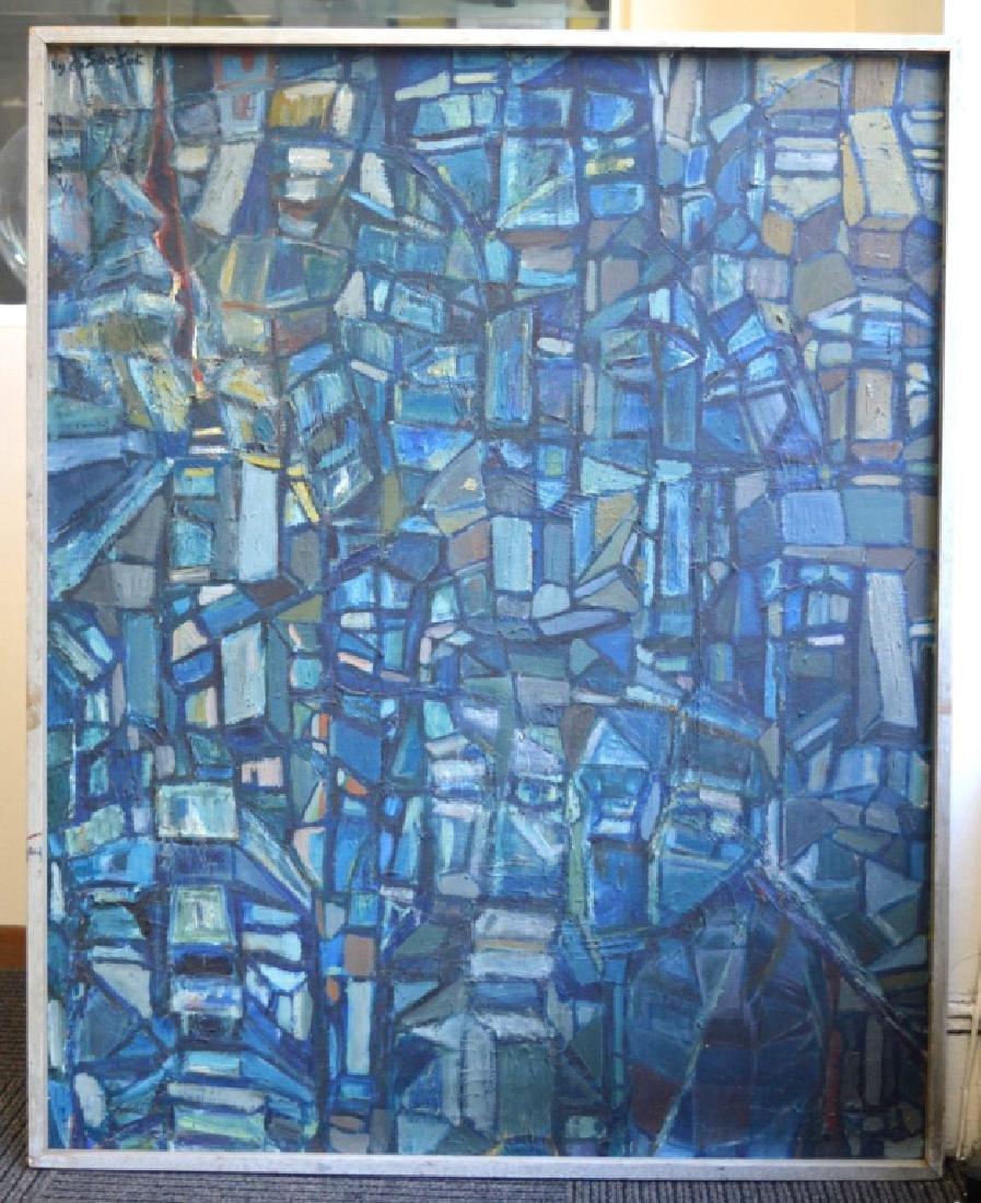 SooSuk Kim: Korean Oil/Canvas, Abstract Buildings