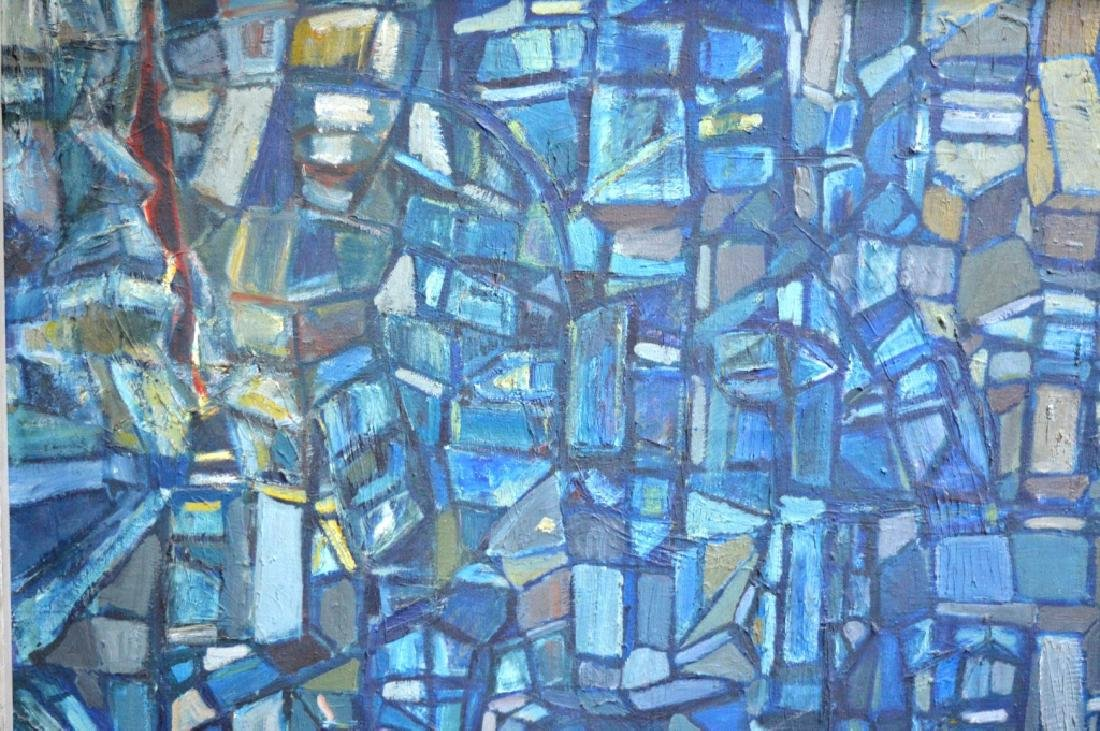 SooSuk Kim: Korean Oil/Canvas, Abstract Buildings - 2