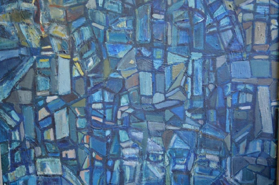 SooSuk Kim: Korean Oil/Canvas, Abstract Buildings - 3
