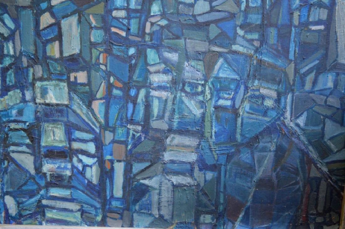 SooSuk Kim: Korean Oil/Canvas, Abstract Buildings - 4