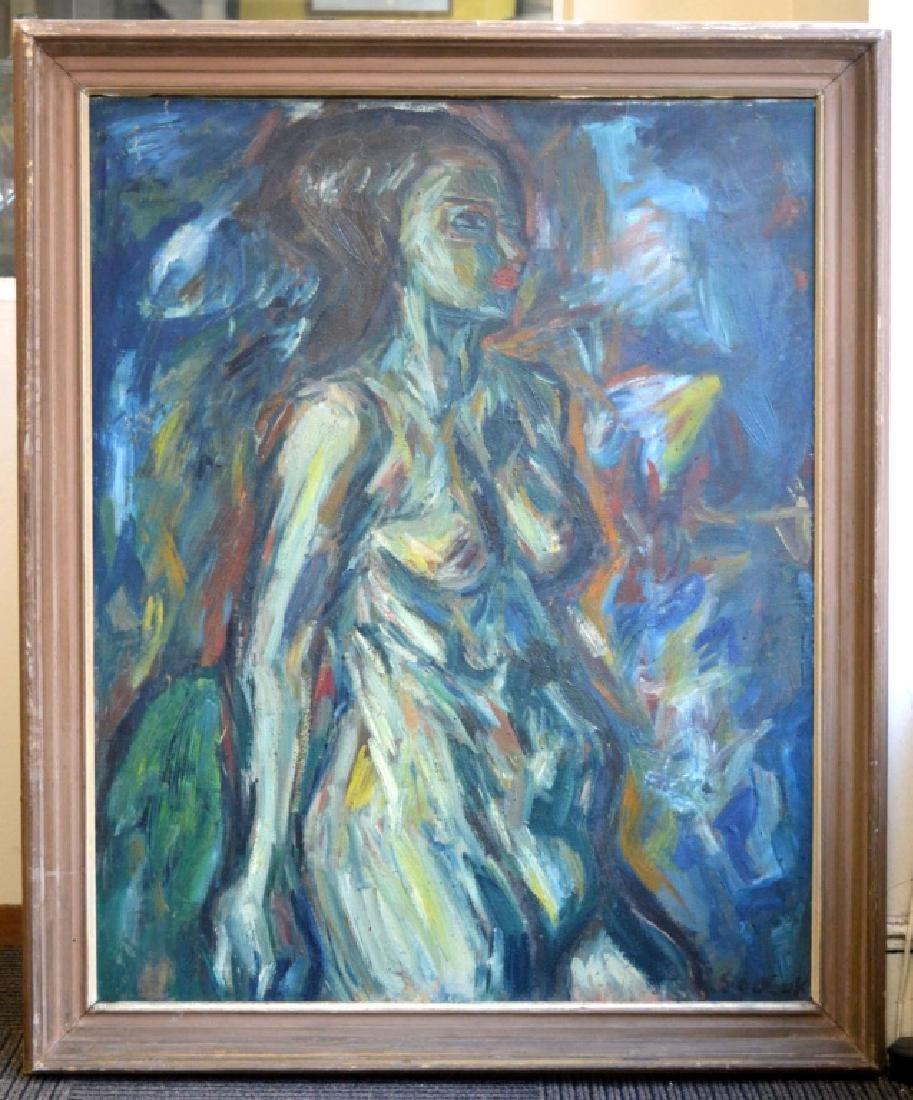 Soo Suk Kim: Korean Oil/Canvas, 1963 Female Nude