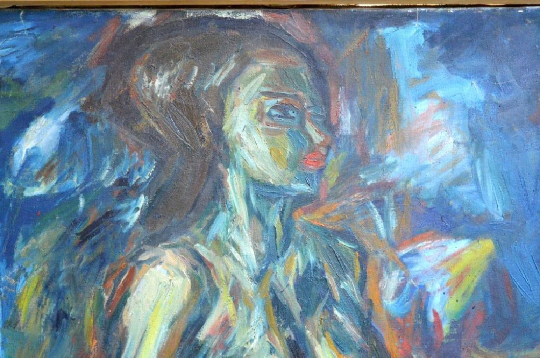 Soo Suk Kim: Korean Oil/Canvas, 1963 Female Nude - 2