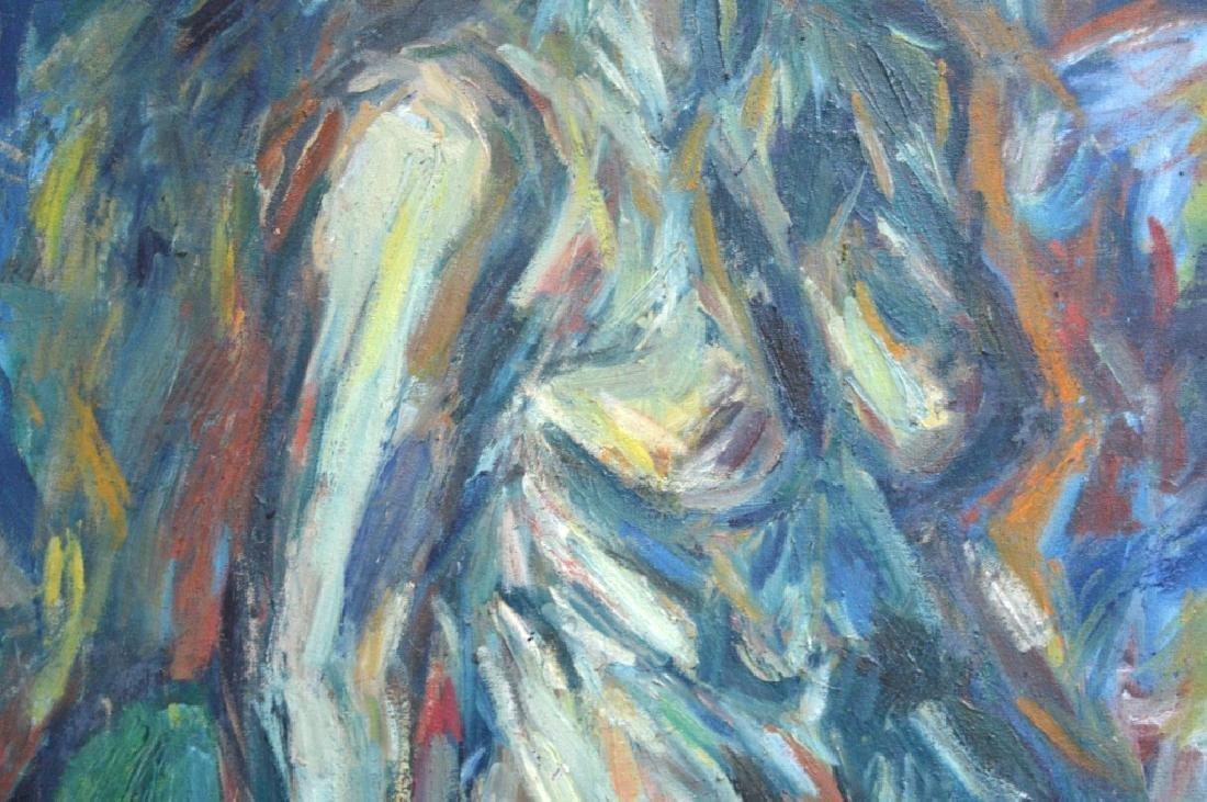 Soo Suk Kim: Korean Oil/Canvas, 1963 Female Nude - 3