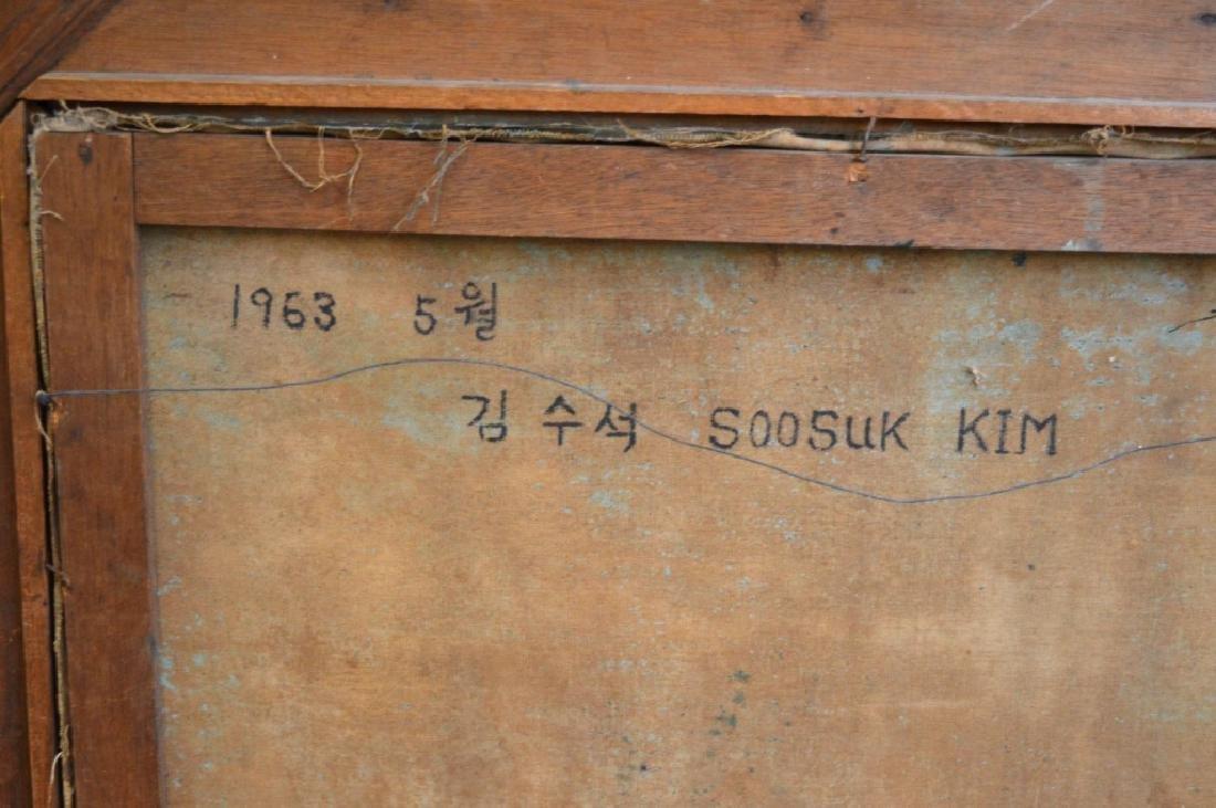 Soo Suk Kim: Korean Oil/Canvas, 1963 Female Nude - 6