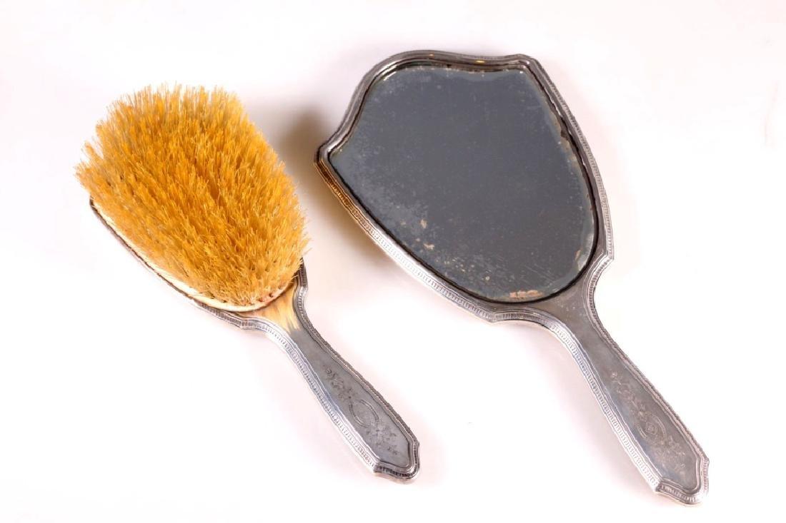 Tiffany & Co. 1930's Sterling Brush & Mirror
