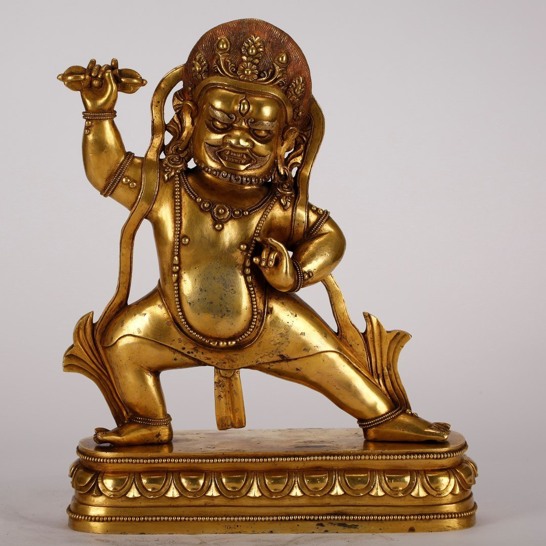 Tibetan Ming Gilt Bronze Buddha on Lotus