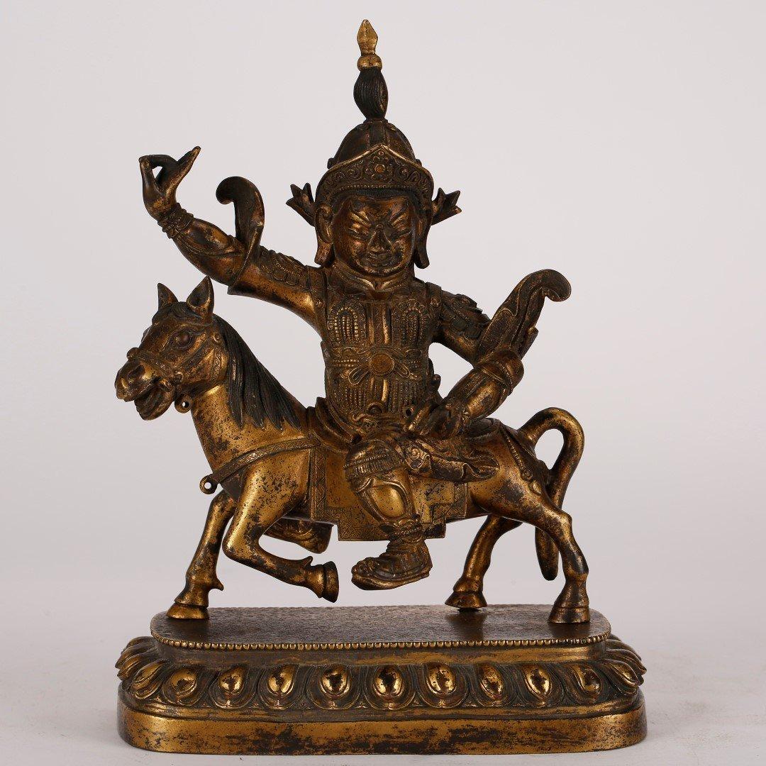 Chinese Qing Gilt Bronze Buddha