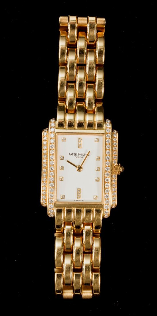 Patek Philippe 1996; 18K & Diamond Bracelet Watch