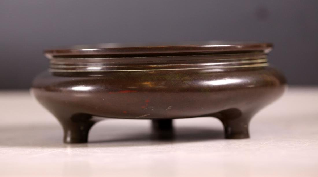 Chinese Ming Bronze Censer; Rare Chongzhen Mark