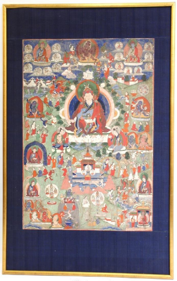Tibetan 19 C Thangka of Spirit World