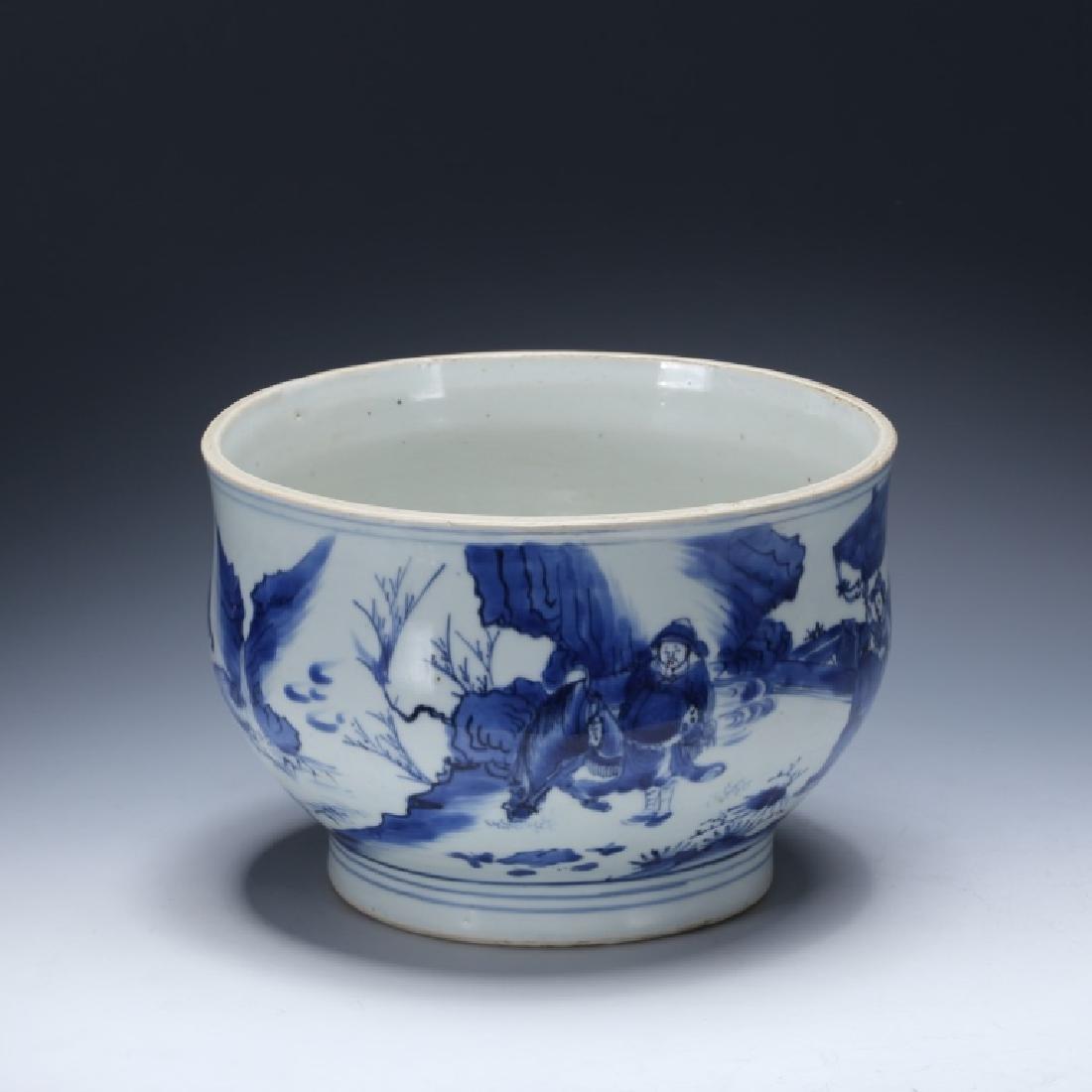Chinese Transitional B & W Porcelain Pot
