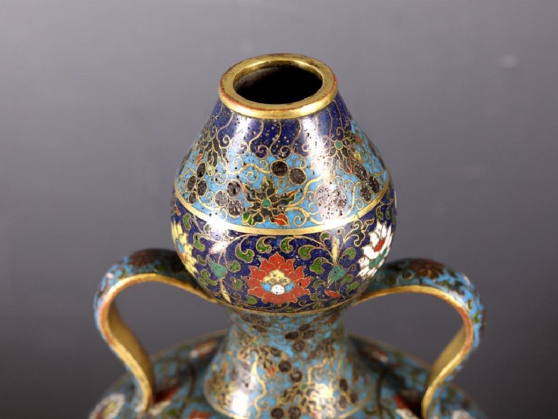 Rare Chinese Cloisonne Moon Flask; Jingtai Mark - 3