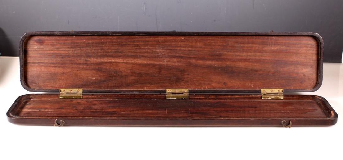 Chinese 19 C Inlaid Black Hardwood Instrument Box - 2