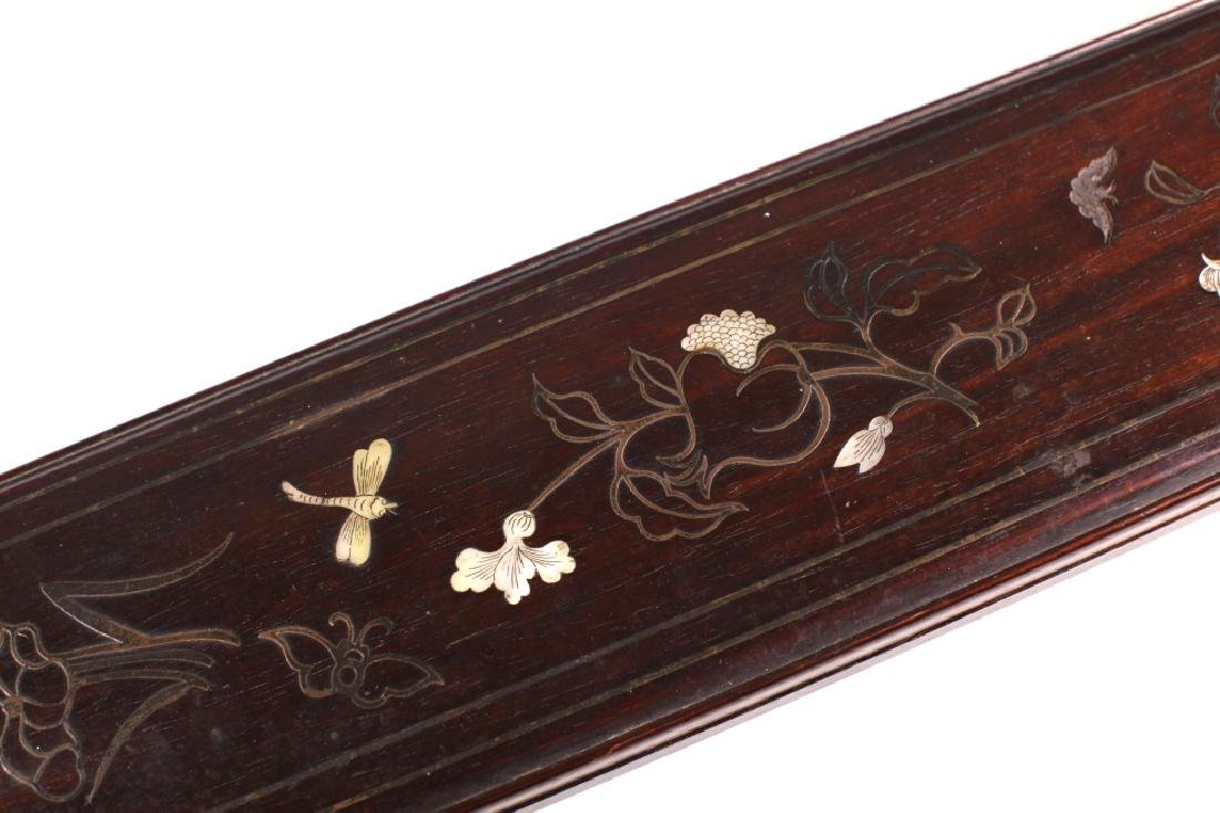 Chinese 19 C Inlaid Black Hardwood Instrument Box - 5