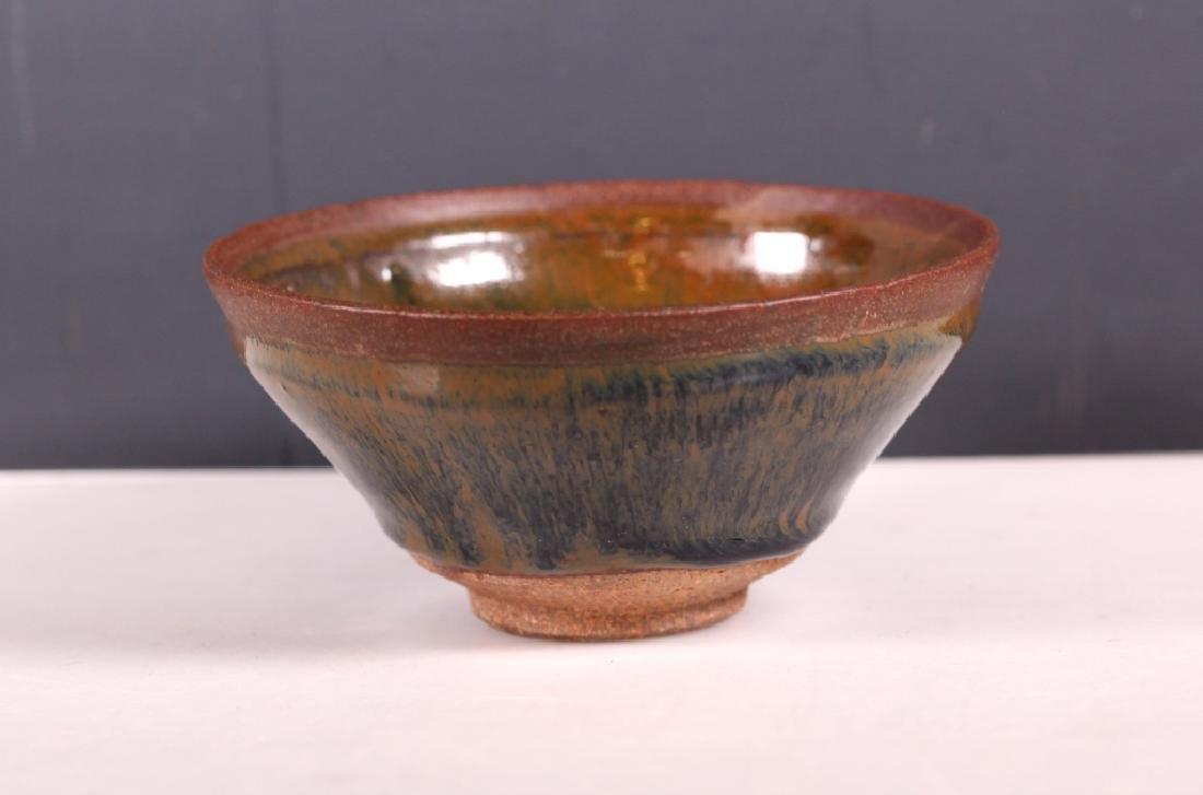 Chinese Jianyao Ceramic Teabowl; Hare's Fur Glaze