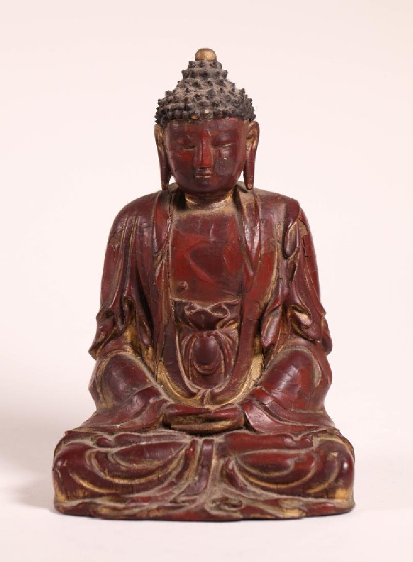 Rare Chinese Ming Dynasty Dry Lacquer Buddha
