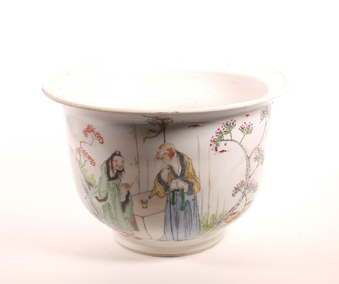 Chinese Artist Decorated Porcelain Planter
