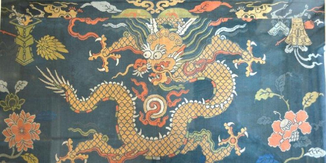 Good Chinese Ming Silk Brocade 4-Claw Dragon