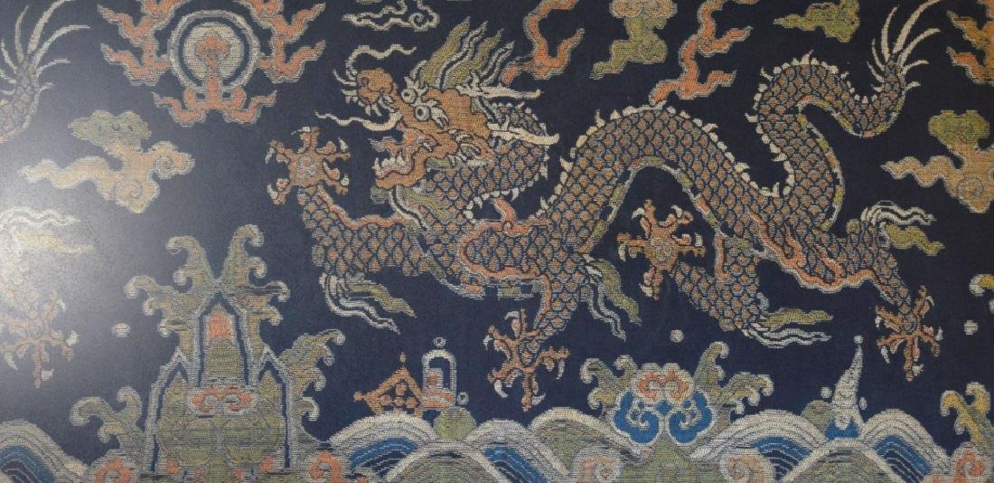 Good Chinese Ming/Qing Brocade 5-Claw Dragon