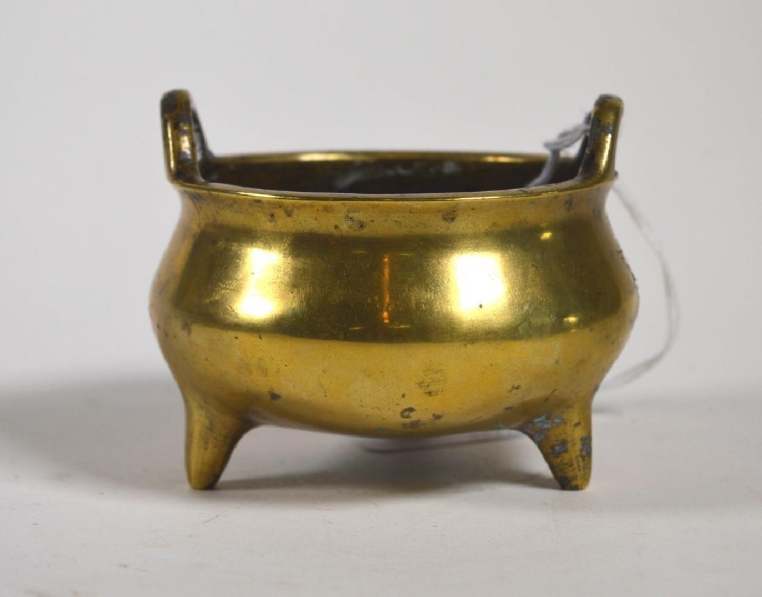 Chinese 19 C Bronze Censer on 3 Feet; Xuande Mark