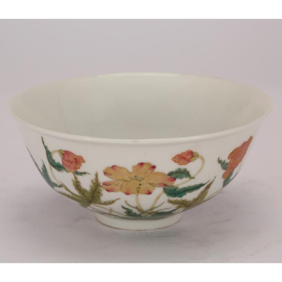 Chinese Fencai Enameled Porcelain Floral Bowl