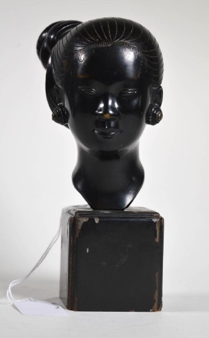 Early 20 C South East Asian Bronze of Young Girl