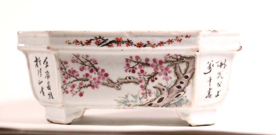 Chinese 19 C Enameled Porcelain Planter