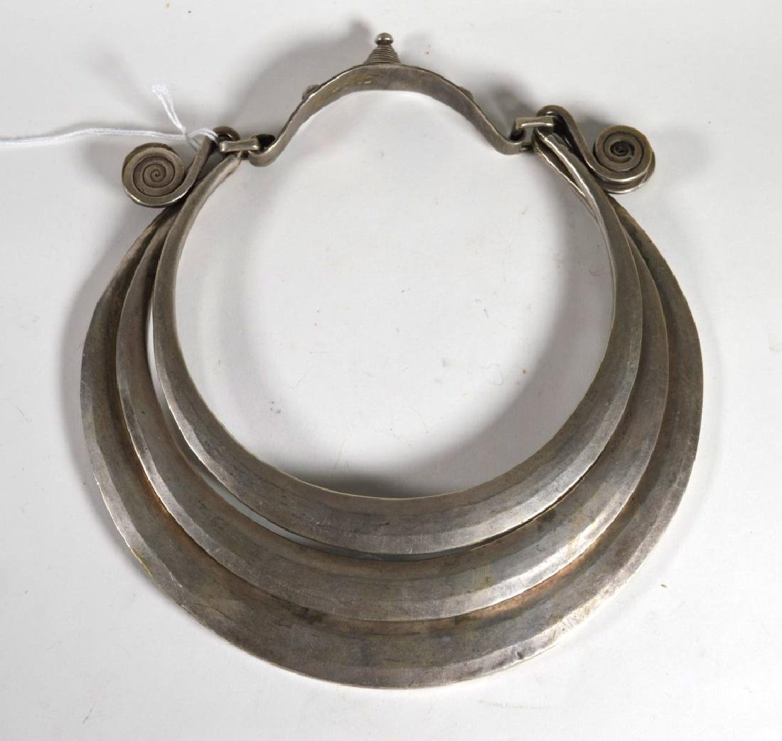 "Antique Chinese ""Miao"" Silver Necklace; 850G"