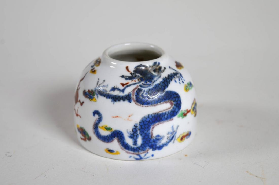 Antique Chinese Enameled Porcelain Water Pot