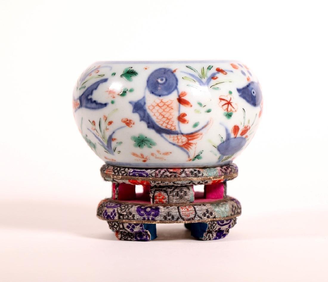 Chinese Qing Wucai Porcelain Water Pot
