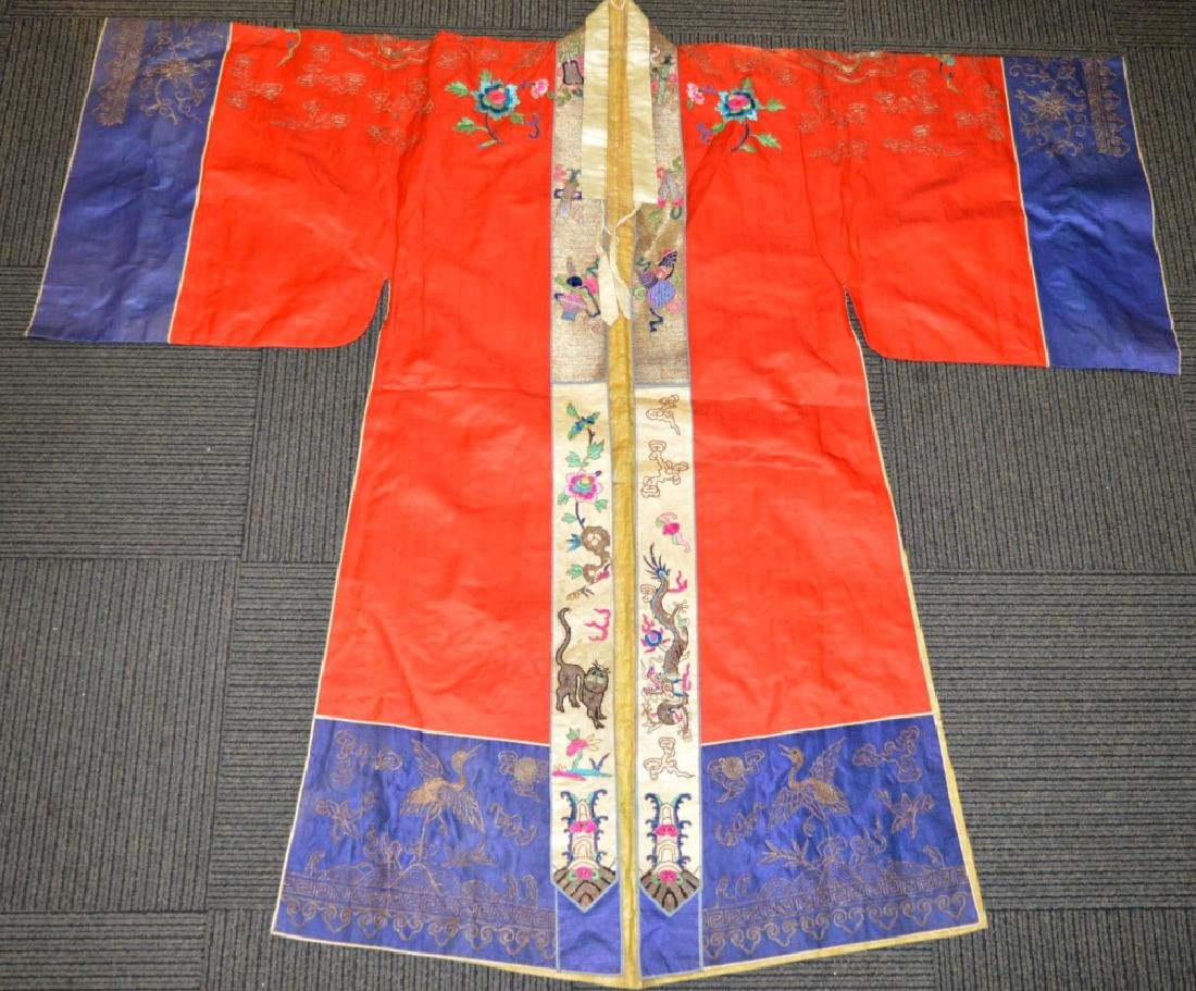 Rare Chinese Silk Tang Style Theater Gown