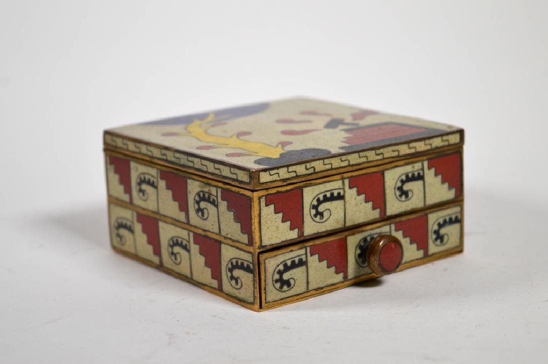 Chinese 1930's Art Deco Cloisonne Smoking Box