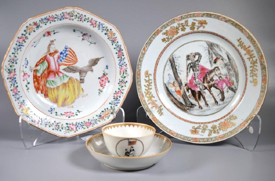 4 Rare Chinese Export Porcelains