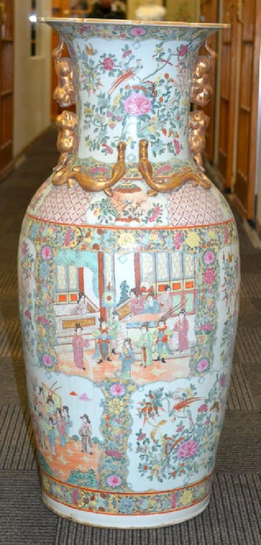 Giant Chinese Rose Medallion Vase