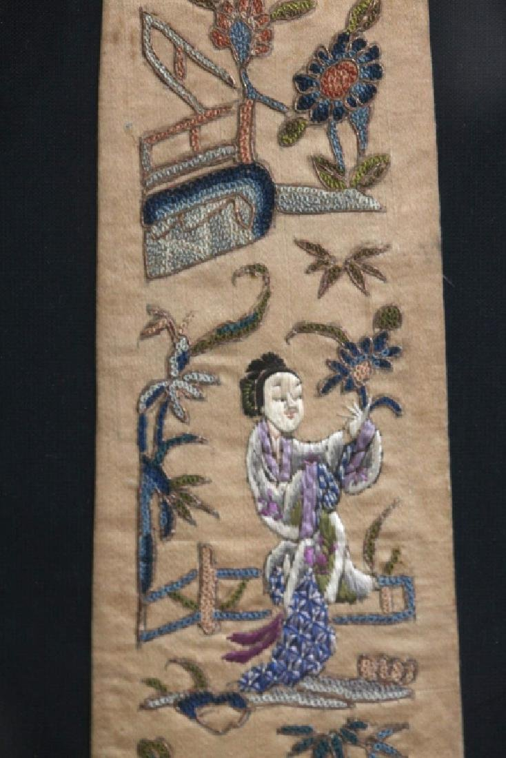 Pr Chinese Qing Dynasty Embroidered Scarves - 3