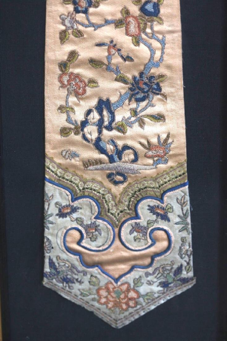 Pr Chinese Qing Dynasty Embroidered Scarves - 4