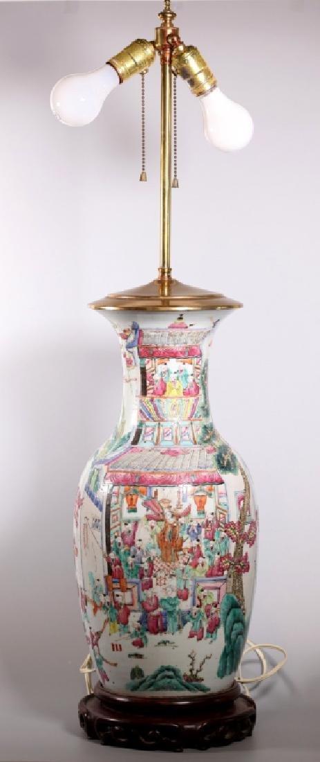 Chinese 19 C Famille Rose 100 Boys Porcelain Vase
