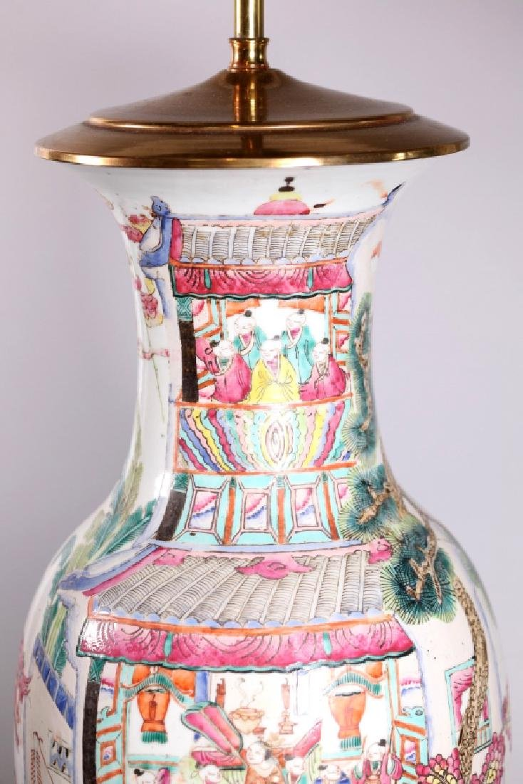Chinese 19 C Famille Rose 100 Boys Porcelain Vase - 2