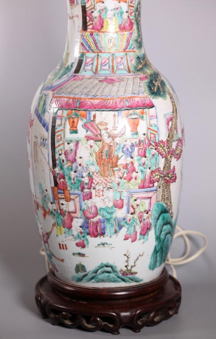 Chinese 19 C Famille Rose 100 Boys Porcelain Vase - 3