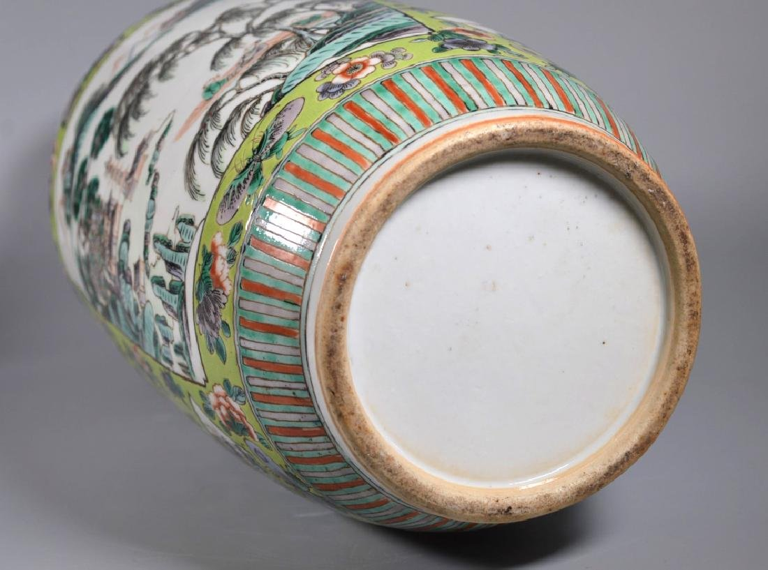 Pr 19 C Chinese Enameled Porcelain Baluster Vases - 8
