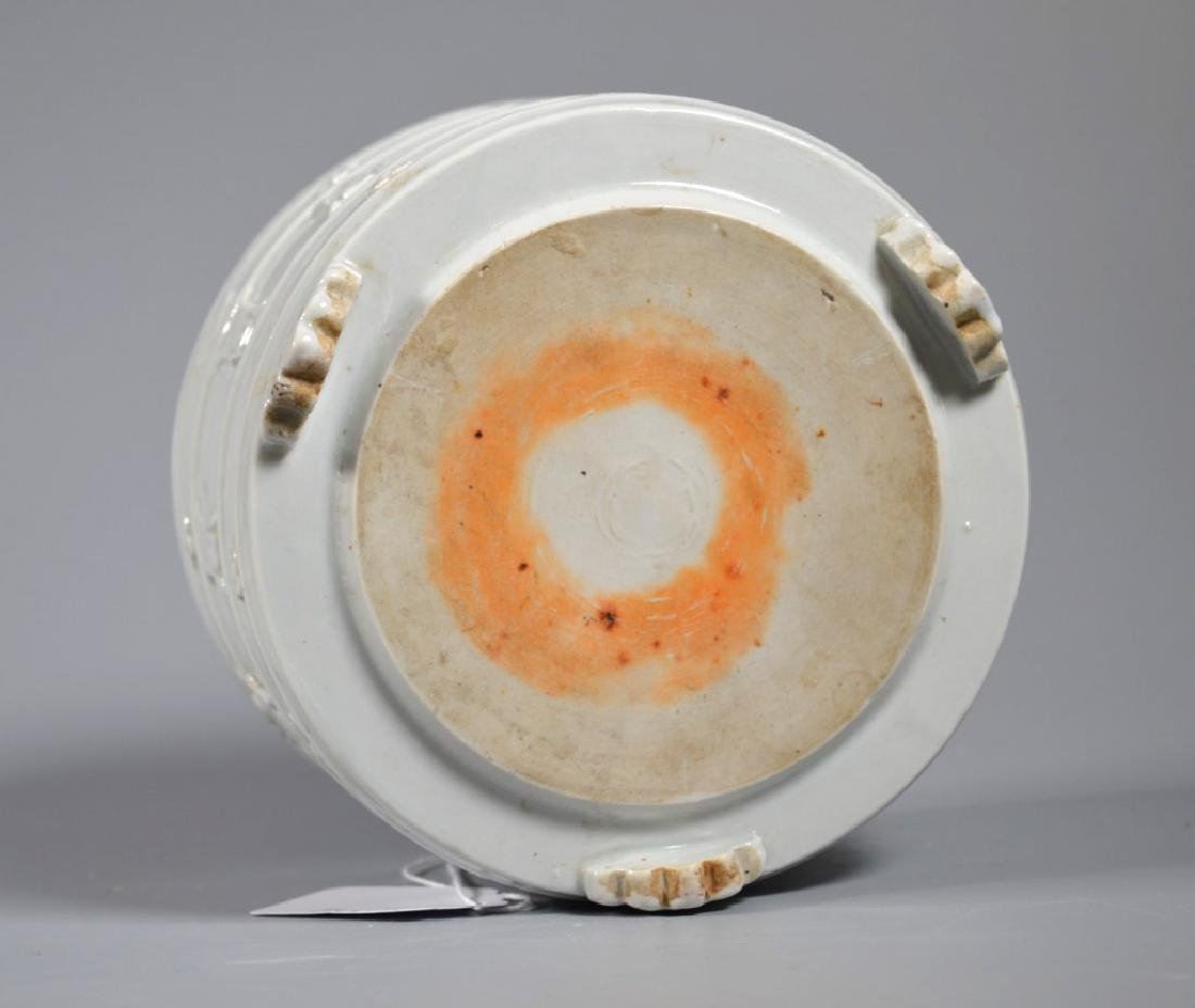 "19C Chinese Blanc de Chine Porcelain ""Shou"" Censer - 6"