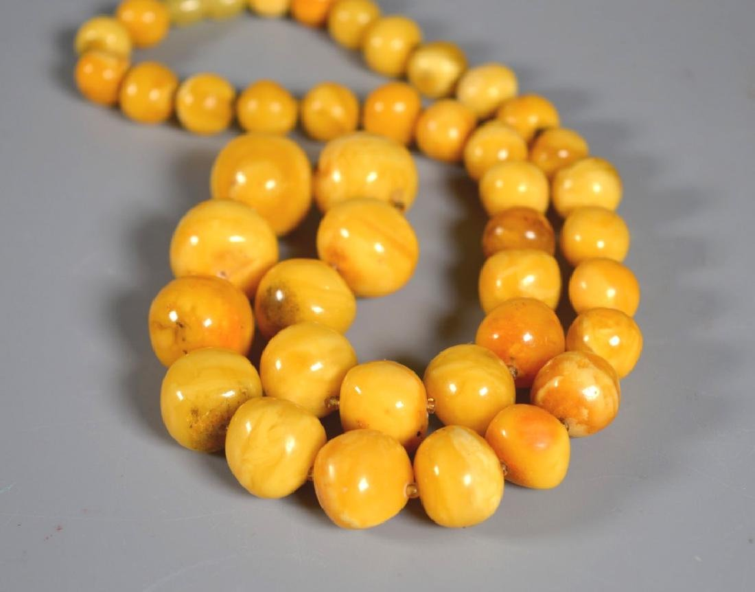 Butterscotch Amberl Bead Necklace; 52G - 3