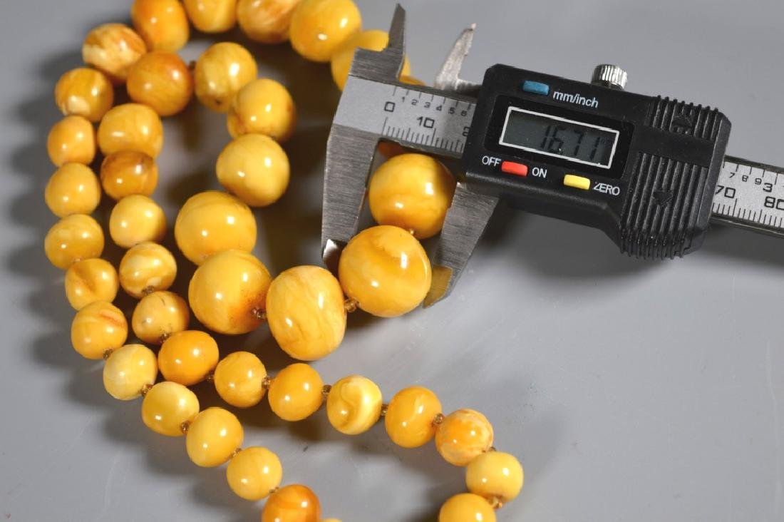 Butterscotch Amberl Bead Necklace; 52G - 4