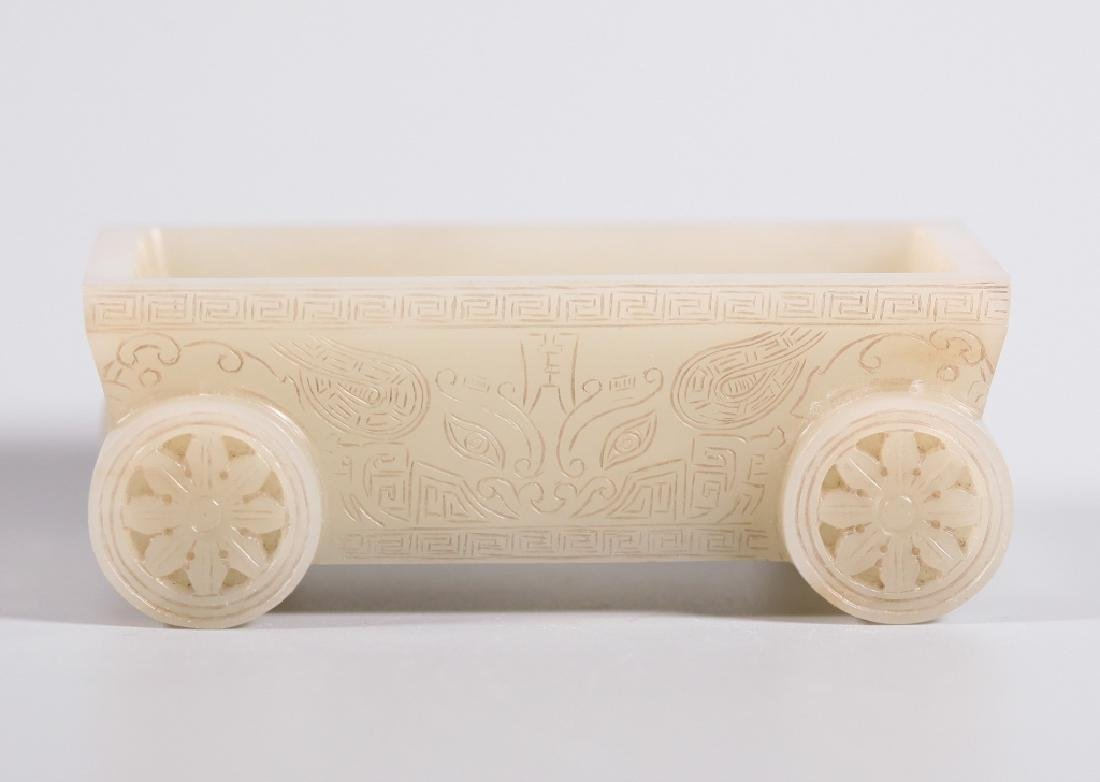 Chinese Carved Jade Rectangular Container