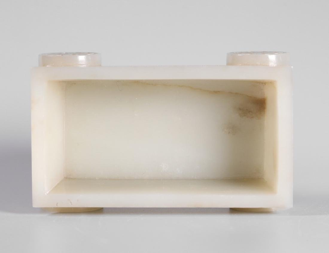Chinese Carved Jade Rectangular Container - 3