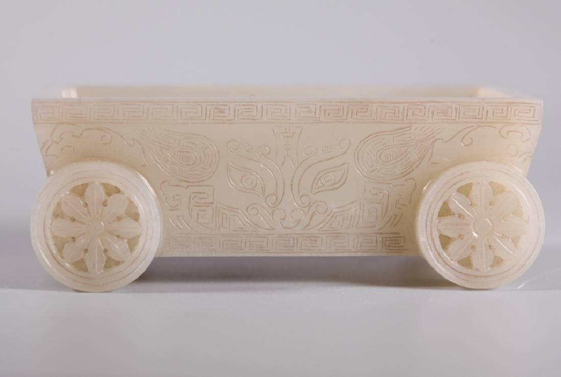 Chinese Carved Jade Rectangular Container - 7