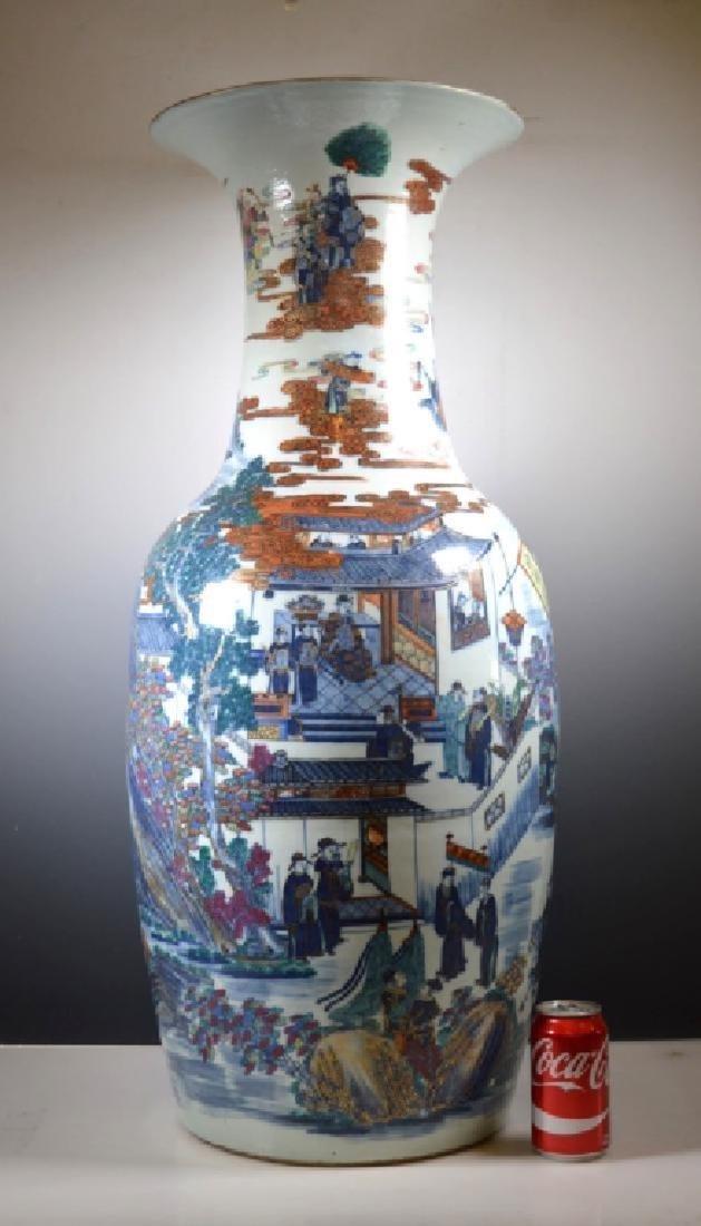 Very Large Chinese 19 C Doucai Porcelain Vase