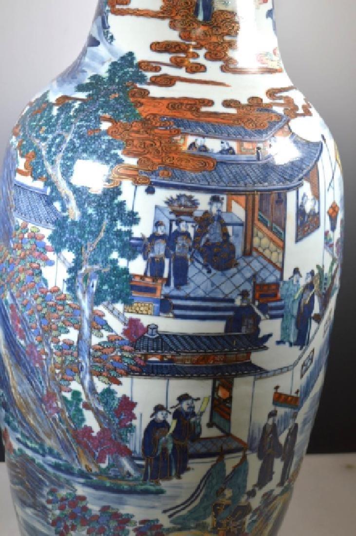 Very Large Chinese 19 C Doucai Porcelain Vase - 2